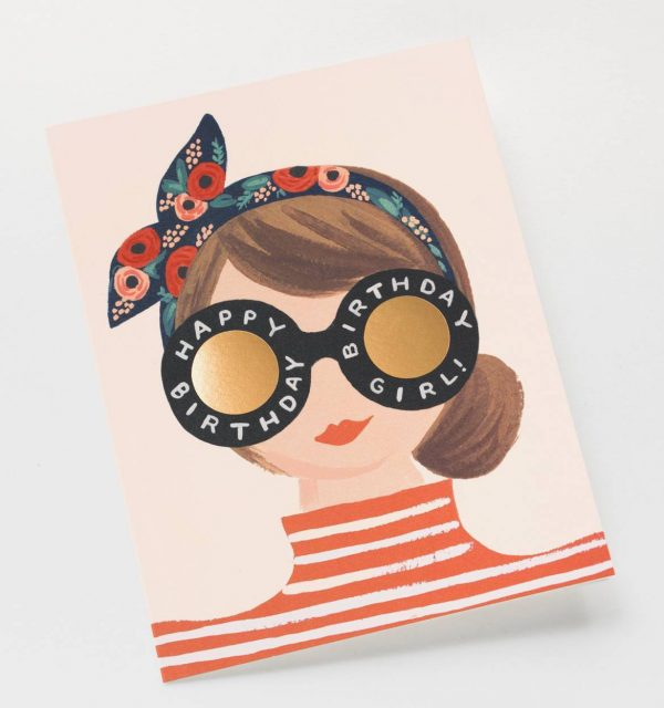 "Rifle Paper Co. ""Birthday Girl"" Greeting Card"
