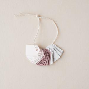 Mini Gift Tag Set - Blush, Rose, Marble