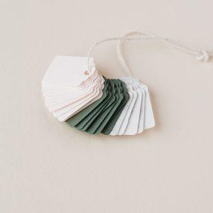 Mini Gift Tag Set - Blush, Olive, Marble