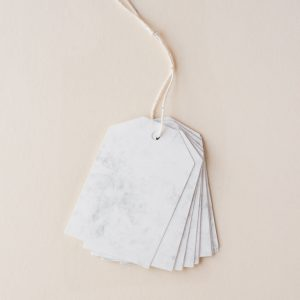 Marble Paper Gift Tag Set, 20 pcs