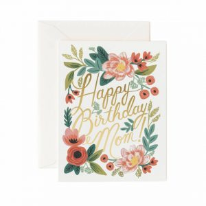 "Rifle Paper Co. ""Happy Birthday Mom"" Greeting Card"