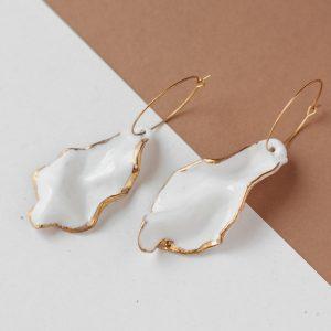 Big Drape Porcelain Earrings