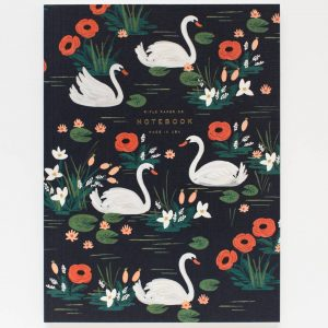 "Rifle Paper Co. ""Birds of a Feather Swans"" Notebook"