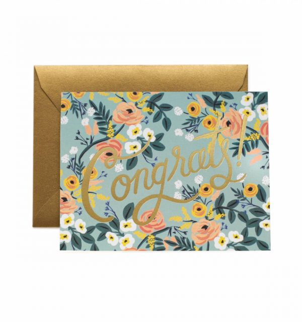 "Rifle Paper Co. ""Blue Meadow Congrats"" Greeting Card"