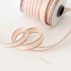 Studio Carta Drittofilo Cotton Ribbon, 20 meters - Blush & Rose Gold