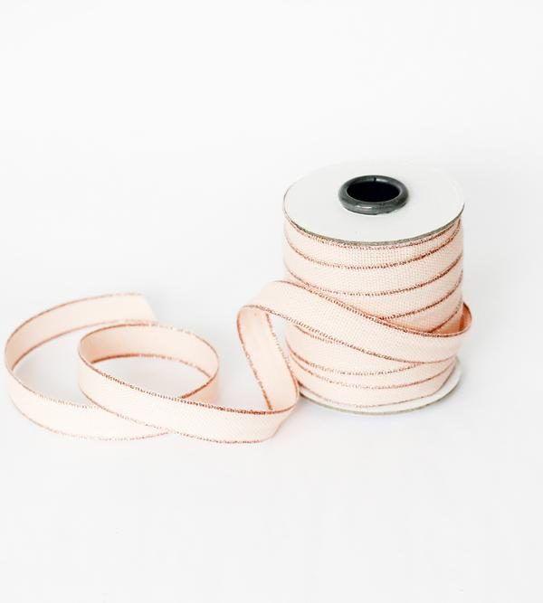 Studio Carta Drittofilo Cotton Ribbon, 20 meters - Blush & Rose Gold