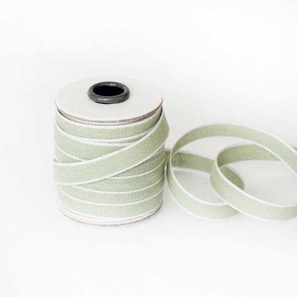 Studio Carta Drittofilo Cotton Ribbon, 20 meters - Sage & White