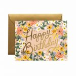 "Rifle Paper Co. ""Rosé Birthday"" Greeting Card"