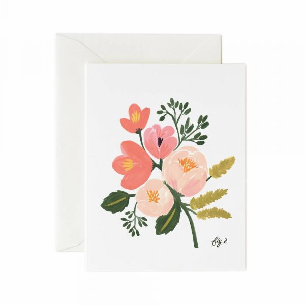 "Rifle Paper Co. ""Peony Pink Floral"" Greeting Card"