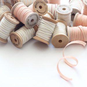 Studio Carta Mettalic Line Cotton Ribbon, 5 meters