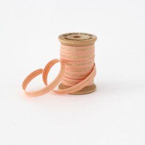 Studio Carta Mettalic Line Cotton Ribbon, 5 meters - Peach & Gold