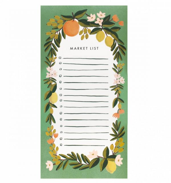 "Rifle Paper Co. ""Citrus Floral"" Shopping List Notepad"