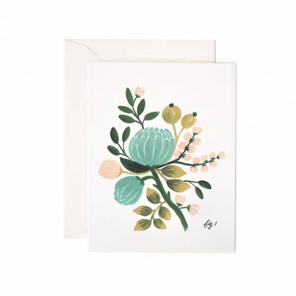 "Rifle Paper Co. ""Blue Floral"" Greeting Card"