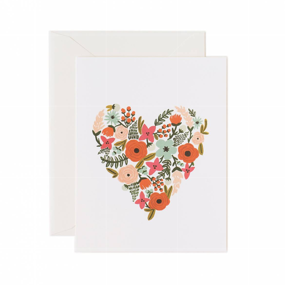 """Rifle Paper Co. """"Floral Heart"""" Greeting Card"""