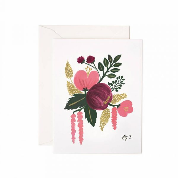"Rifle Paper Co. ""Raspberry Floral"" Greeting Card"
