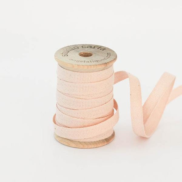 Studio Carta Wood Spool Cotton Ribbon, 5 meters - Blush