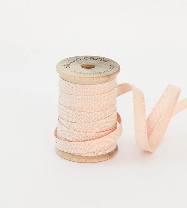 Studio Carta Wood Spool Cotton Ribbon, 5 meters - Blush