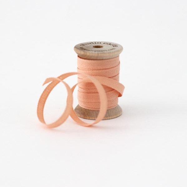 Studio Carta Wood Spool Cotton Ribbon, 5 meters - Peach