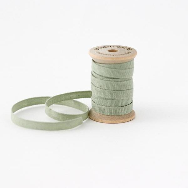 Studio Carta Wood Spool Cotton Ribbon, 5 meters - Sage