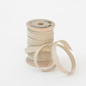 Studio Carta Wood Spool Cotton Ribbon, 5 meters - Tan
