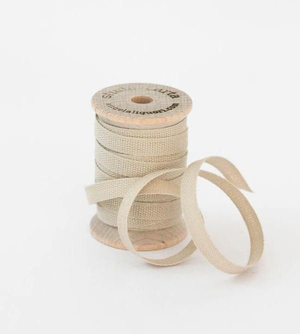 Studio Carta Wood Spool Cotton Ribbon, 5 meters - Tan