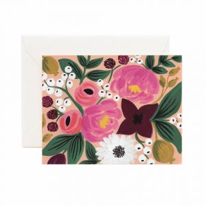 "Rifle Paper Co. ""Peach Vintage Blossoms"" Greeting Card"