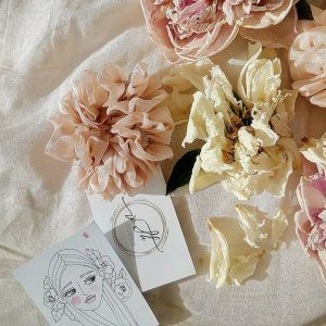 Silk Hair Scrunchie - Peach