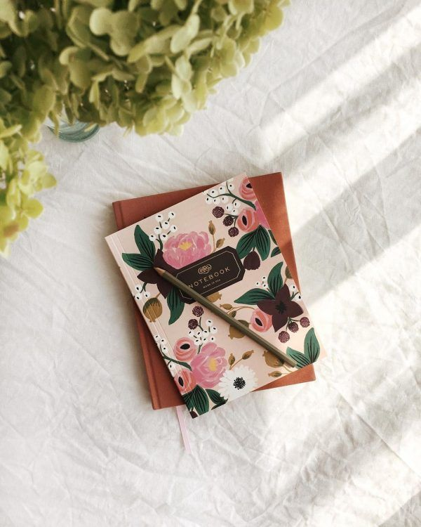 "Rifle Paper Co. ""Pink Vintage Blossoms"" Notebook"