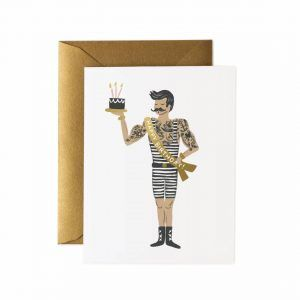 "Rifle Paper Co. ""Strongman Birthday"" Greeting Card"