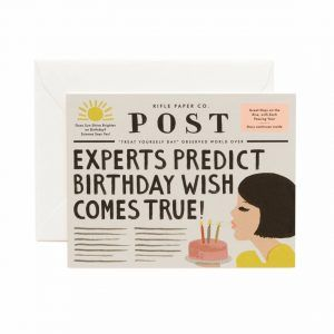 "Rifle Paper Co. ""Breaking News Birthday"" Greeting Card"
