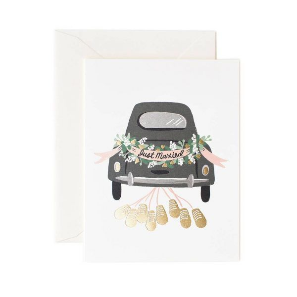 "Rifle Paper Co. ""Just Married Getaway"" Greeting Card"