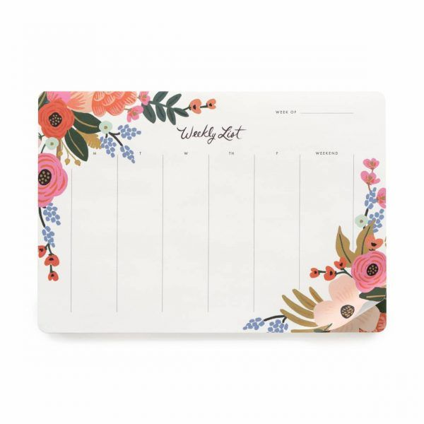 "Rifle Paper Co. ""Lively Floral"" Weekly Desk Pad"