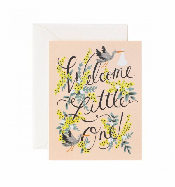 "Rifle Paper Co. ""Welcome Little One"" Greeting Card"