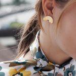 Little Arch Brass Earrings