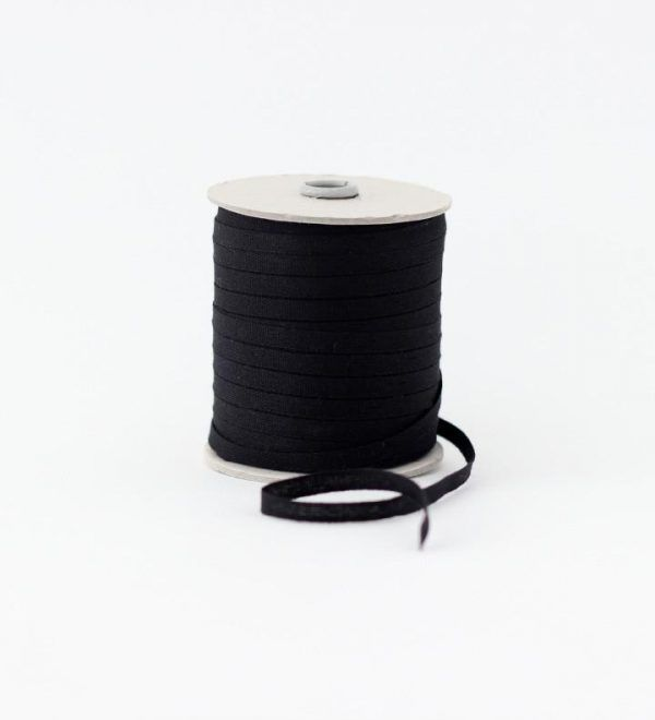 Studio Carta 6 mm Cotton Ribbon, 100 meters - Black