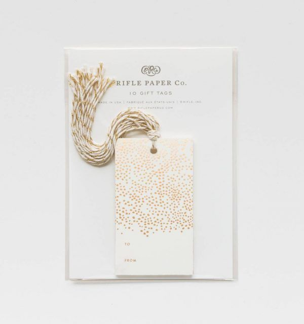 "Rifle Paper Co. ""Champagne"" Gift Tags"