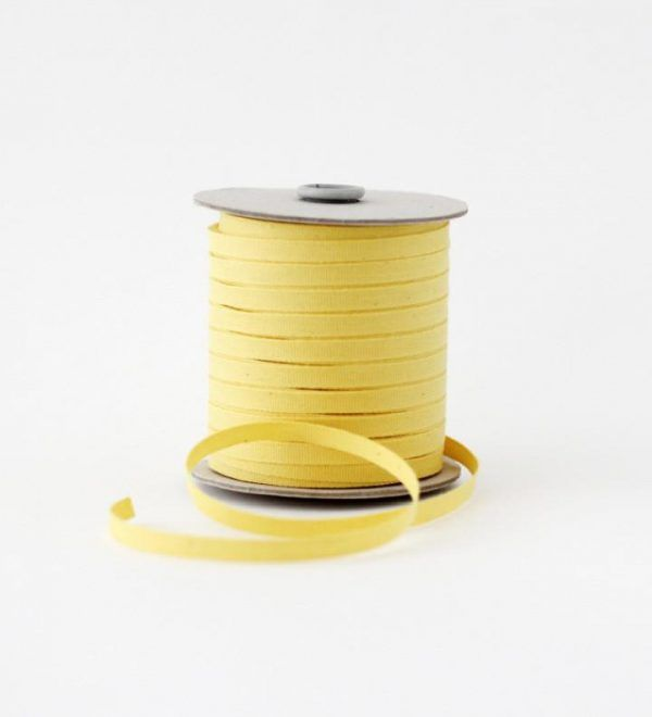 Studio Carta 6 mm Cotton Ribbon, 100 meters - Lemon