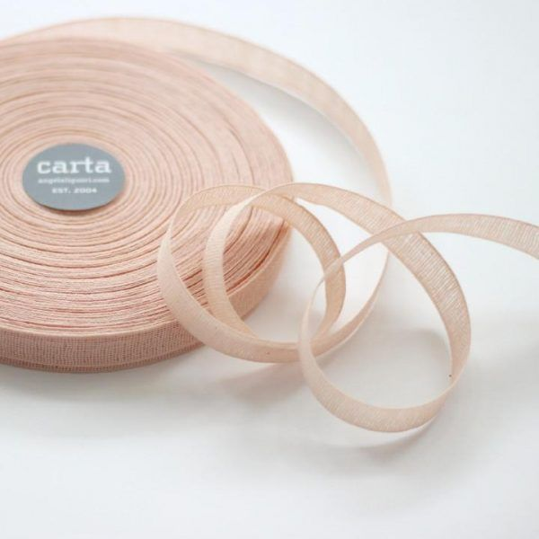 Studio Carta 15 mm Loose Weave Cotton Ribbon - Blush