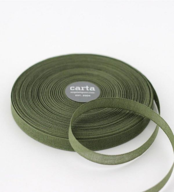 Studio Carta 15 mm Loose Weave Cotton Ribbon - Olive