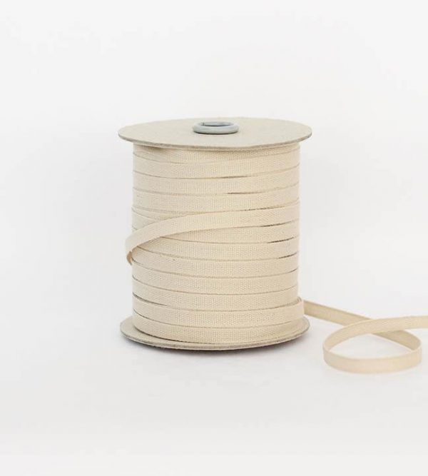 Studio Carta 6 mm Cotton Ribbon, 100 meters - Tan