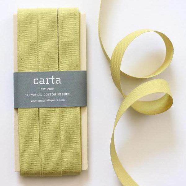 Studio Carta Cotton Ribbon 17 mm – Chartreuse