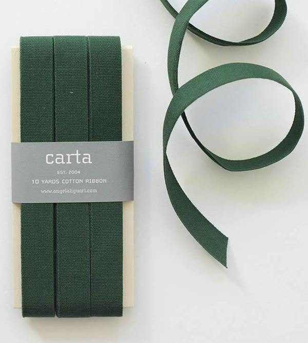 Studio Carta Cotton Ribbon 17 mm – Cypress