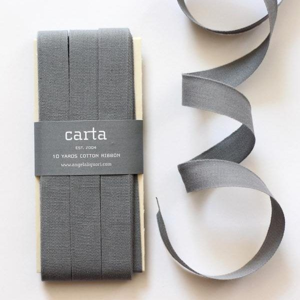 Studio Carta Cotton Ribbon 17 mm – Gravel