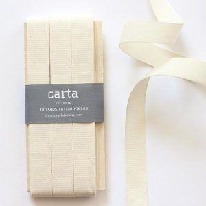 Studio Carta Cotton Ribbon 17 mm – Natural