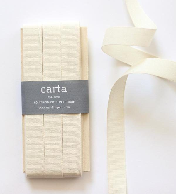Studio Carta Cotton Ribbon 17 mm – Natural