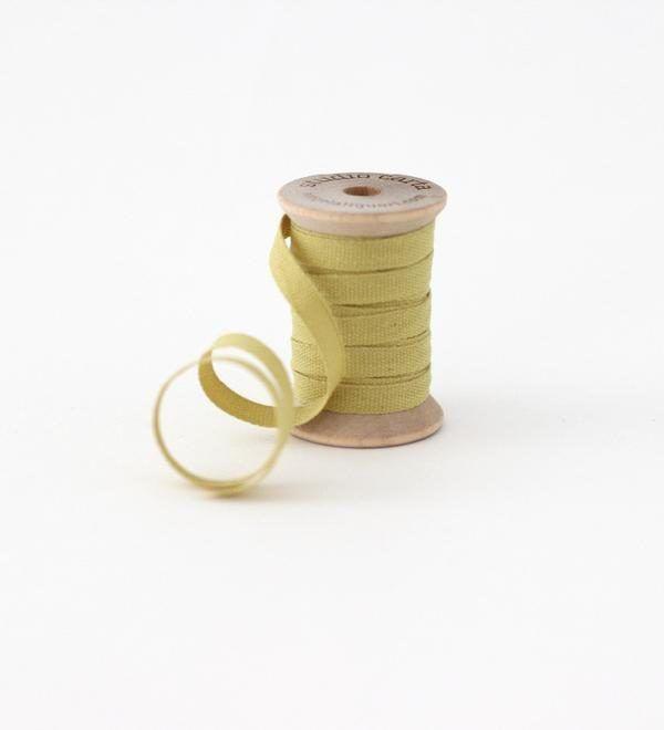 Studio Carta Wood Spool Cotton Ribbon, 5 meters - Chartreuse