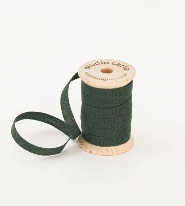 Studio Carta Wood Spool Cotton Ribbon - Cypress