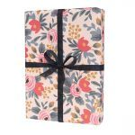 "Rifle Paper Co. ""Blushing Rosa"" Wrapping Paper Sheet"