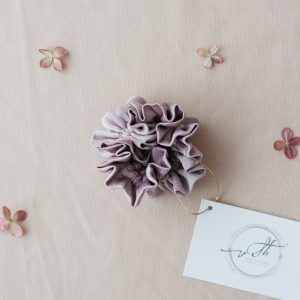 Silk Hair Scrunchie - Lilac