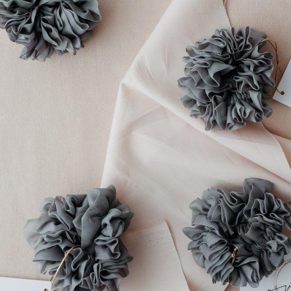 Silk Hair Scrunchie - Cloud